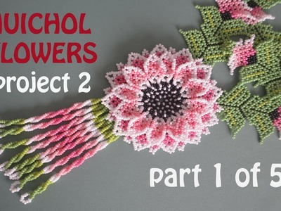 53. DIY HUICHOL FLOWERS. PROJECT 2. TUTORIAL part 1 of 5. THUMBS UP!!!