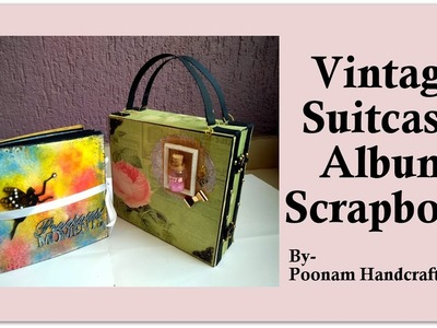Birthday Scrapbook for Best Friend| Vintage Suitcase Memory Album|Gifting ideas