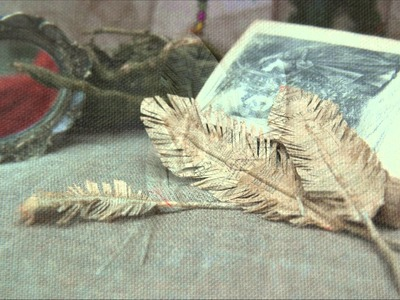 Crafts for  Nubies - Crafts in 3 minutes - make a feather out of recycled paper