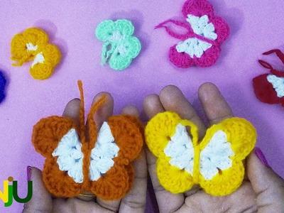 CrochetBySANJU: How to make a lovely Butterfly with crochet.
