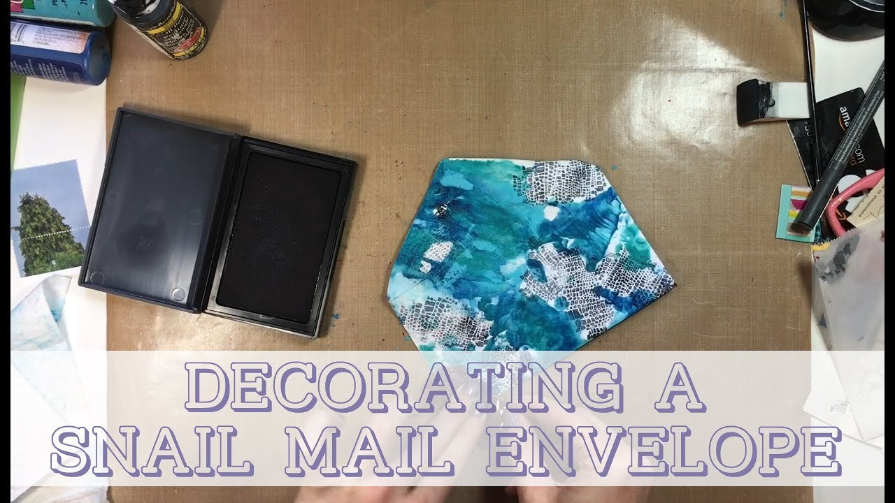 diy decorating a snail mail envelope mail art my crafts and diy