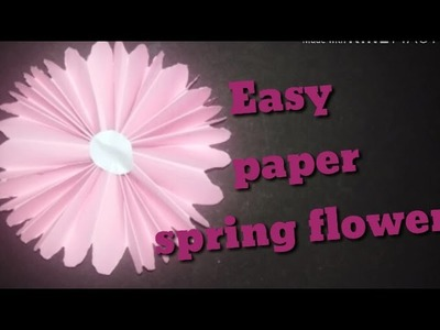 DIY Easy PAPER flower making in 2 minutes in hindi