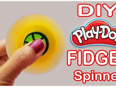 DIY How To Make a Fidget Spinner Toy With Play Doh & Drinking Straw Idea Life Hack