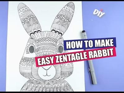 DIY: How to make Easy Zentangle Rabbit