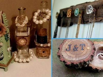 ✴DIY   Jewelry Organizer. 40 creative Ideas for jewelry holder (Cute and Easy!!)✴