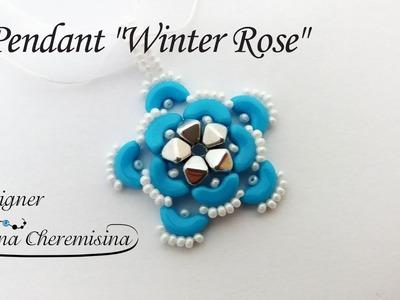 "DIY: Pendant  ""Winter Rose"" [Video Tutorial]"