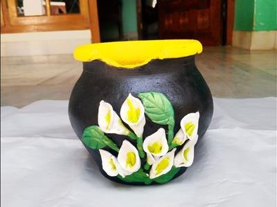 DIY-Pot decoration.calla lily.clay flower