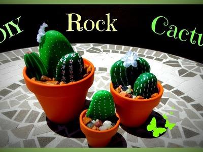 DIY Rock Cactus!!  Super cute and easy to make.