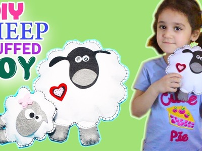DIY Shaun The Sheep Plushie. How to make cute sheep crafts for kids. NO FABRIC. SEW or NO SEW