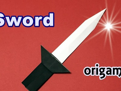 Easy but Cool Origami Sword for Beginners | How to Make a paper Weapon Sword Step by Step