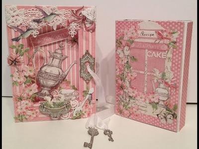 G45 Botanical Tea Recipe mini Album inside shadow book box