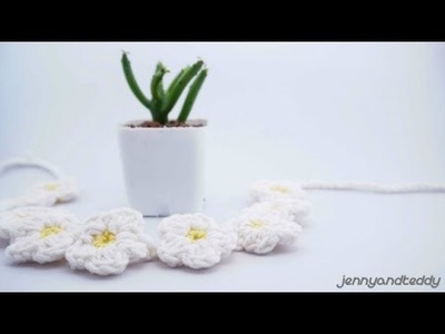 How to crochet  small flowers daisy easy for beginner