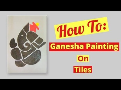 How to do painting on tile | Ganesha Painting |Summer Project for kids # Project 1| Craftziners # 78