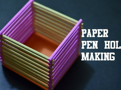 How to make easy peaper pen.pencil holder |Easy Paper Craft|