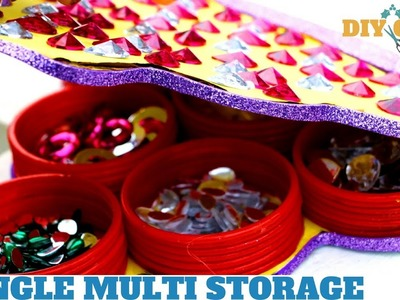 How to || Multi Storage from Old Bangles || Best out of Waste ||  DIYCrafts India #24