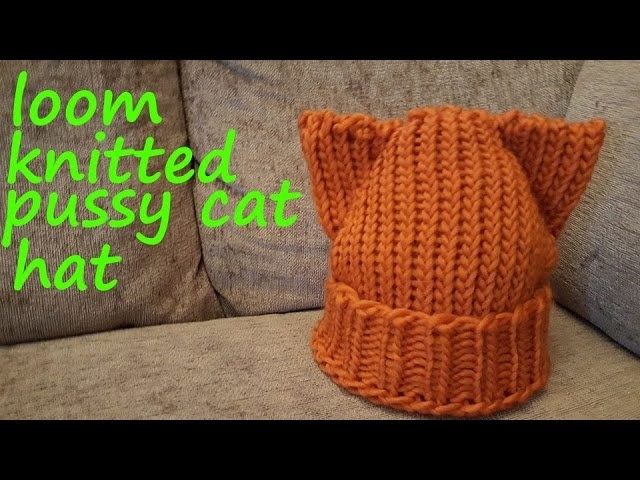 Loom Knitted Pussy Cat Hat