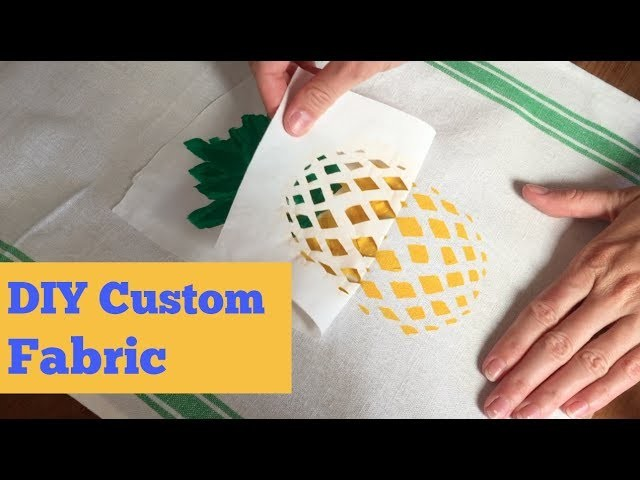 Make Your Own Custom Fabric with Freezer Paper | Easy Screen Print Project | DIY Video