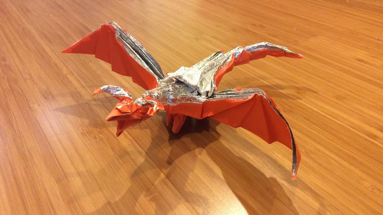 Origami Darkness Dragon 20 By Tadashi Mori Not A Tutorial 1st Attempt