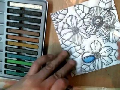 Using Inktense Blocks and Pencils on fabric