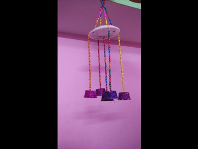 Wall Hanging with plastic cup, || DIY || art with neha ||