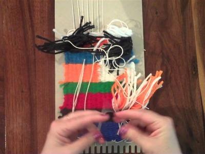 Weaving on a Cardboard Loom   PART 4