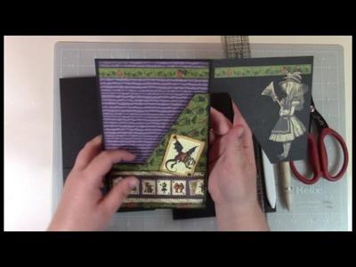 Wonderland Mini Album Page Construction Video