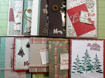 10 Cards 1 Kit   December 2016   Simon Says Stamp Card Kit   Holiday Kit Swell Christmas
