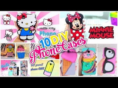 10 PHONE CASES DIY   EASY CRAFTS FOR CHILDREN To Do When You're BORED!  Simple compilation DIY