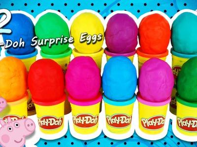 12 Play-Doh Surprise Eggs - Peppa Pig, Disney Princess, Minions, Minnie Mouse, Hello Kitty, Dragons
