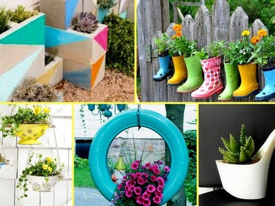 ????50 + Creative Garden Flower Pot Ideas 2017 - Creative DIY Flower Pot????