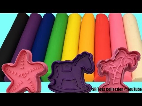 Best Learning Colors Video for Children Play Doh Modelling Clay with Cookie Cutters Fun for Kids