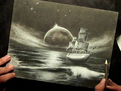 Charcoal Ghost Ship Speed Drawing