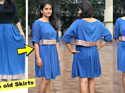 Convert Old Long Skirt into a Cape Dress or a Poncho Dress   Slick and Natty