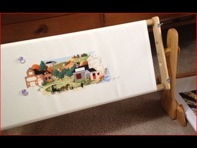 Cross Stitch #15 - American Dream Tomorrow's Treasures Lap Stand Review - Flosstube (July 2015)