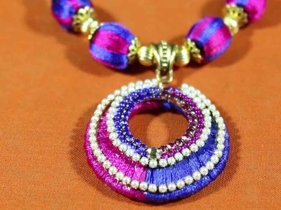 DIY | Choker Necklace making tutorial Videos. How to make Silk thread necklace at home
