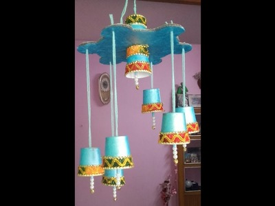 DIY: HOW TO MAKE CEILING HANGING FROM DISPOSAL TEA CUPS