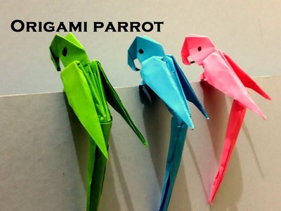 Easy Origami Parrot।How To Make an Easy Origami Parrot।Origami Parrot For Kids।Origami Paper craf।।