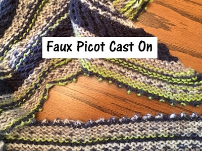 Faux Picot Cast On for the Knitting Loom