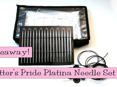 Giveaway!  Knitter's Pride Platina Interchangeable Needle Set