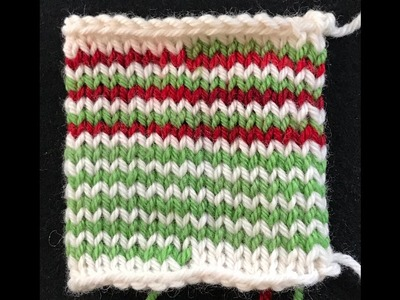 Helix Knitting - One Row Stripes in the Round