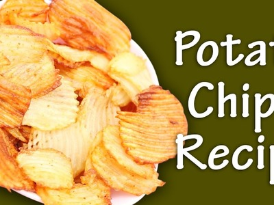 How To Cook Potato Chips Recipe || Myna Street Food