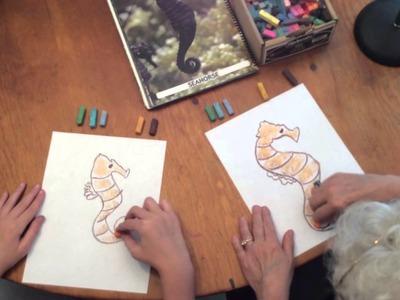How to Draw a Seahorse with Chalk Pastels