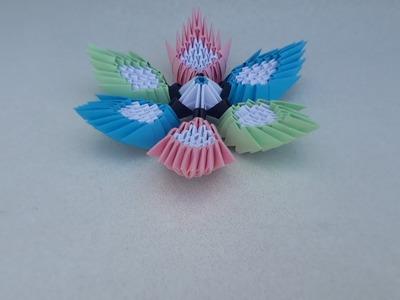 Diy diy flower vase to make flower vase from old banglesbest how to make 3d origami flower diy paper origami flower by mightylinksfo