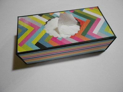How to make a Mini Tissue Box (Taschentuchbox)