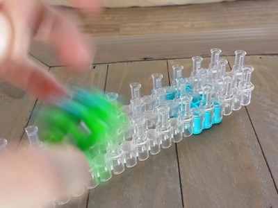 How to make a rainbow loom  fidget spinner part 2