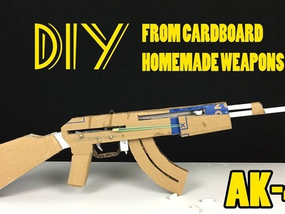 How To Make An AK 47 ✅ - DIY From Cardboard - Homemade Weapons