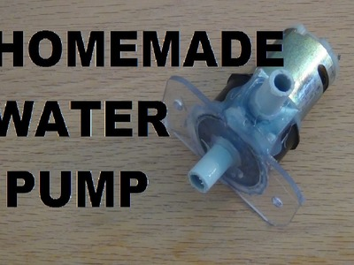 How to make an electric water pump!