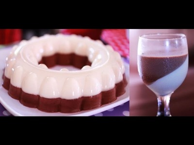 How to Make Chocolate and Vanilla Cream Jelly Pudding- Dessert Month-Beautyklove