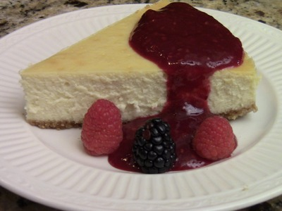 How To Make Homemade Cheesecake With Blackberry And Raspberry Puree
