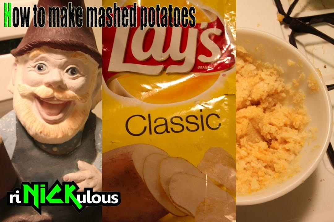 How to make mashed potatoes with chips. crisps ( Potato Chips to mash potatoes)